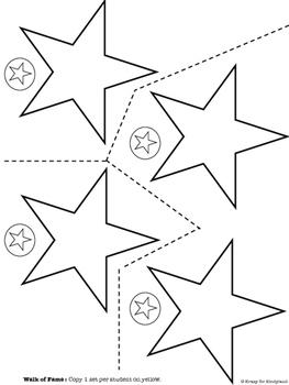 Hollywood Kindergarten Graduation:Clapperboard,Handprint Star,Invitation,Program