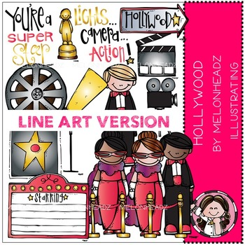 Hollywood clipart teaching resources teachers pay teachers hollywood clip art line art by melonheadz freerunsca Choice Image