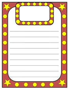 Hollywood Lights Marquee Writing Paper