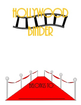 Hollywood-Movie Binder Cover