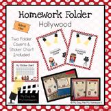 Hollywood Movie Homework Folder Cover