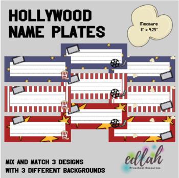 Hollywood/Movie Name Plates
