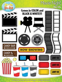 Hollywood Movie Night Clipart {Zip-A-Dee-Doo-Dah Designs}