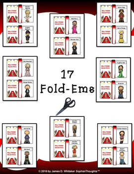 Hollywood Movie Stars Mini Research Fold-Ems and Activities