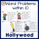 Hollywood-Movie Theater Problem Solving- Single Digits- Task Cards- Sums to 10