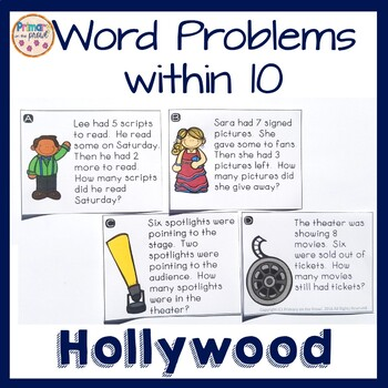 Hollywood-Movie Theater Problem Solving- Single Digits- Ta