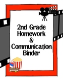 Hollywood Movie Theater Theme Binder Cover - 2nd Grade