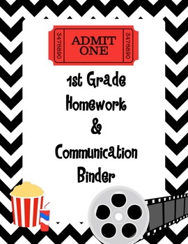 Hollywood Movie Theme Binder Cover - 1st Grade