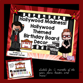 Hollywood Movie Theme Birthday Bulletin Board