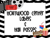 Hollywood Movie Theme Center Signs and Hall Passes