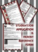 """Hollywood/Movie """"Job Application/Parent Reference Template"""" for a Smooth Year!"""