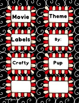Hollywood Movie Theme Labels