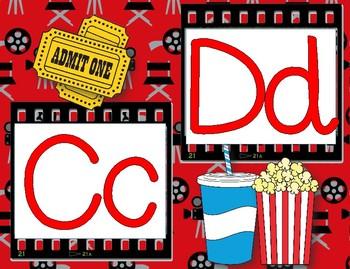 Hollywood Movie Themed Alphabet 2