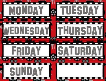 Hollywood Movie Themed Calendar 2