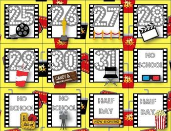 Hollywood Movie Themed Calendar 3