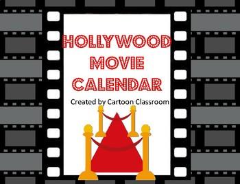 Hollywood Movie Themed Calendar
