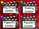 Hollywood Movie Themed Classroom Decor Center Cards - Editable