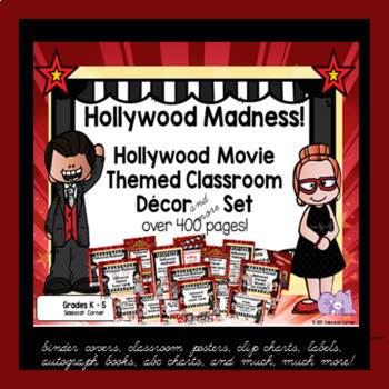 hollywood movie themed classroom decor and more bundle by sassycat