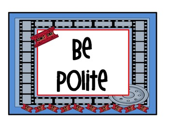 hollywood movie themed classroom rules posters by