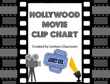 Hollywood Movie Themed Clip Chart