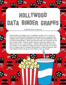 Hollywood Movie Themed Data Binder
