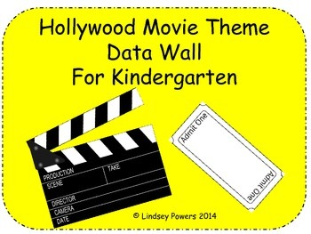 Hollywood Movie Themed Data Wall for Kindergarten