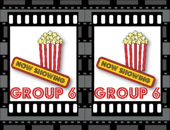 Hollywood Movie Themed Group Signs