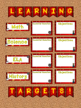 Hollywood Movie Themed Learning Objectives and Assignments Bulletin Boards