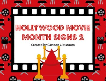 Hollywood Movie Themed Month Signs 2