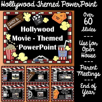 Hollywood Theme Powerpoint Template Teaching Resources Teachers