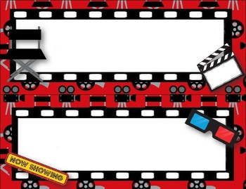 Hollywood Movie Themed Schedule Signs 2