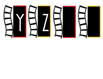 Hollywood-Movie Word Wall Letters