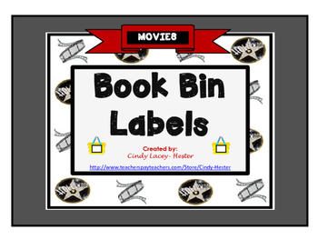 Movies Classroom Library Book Bin / Basket Labels
