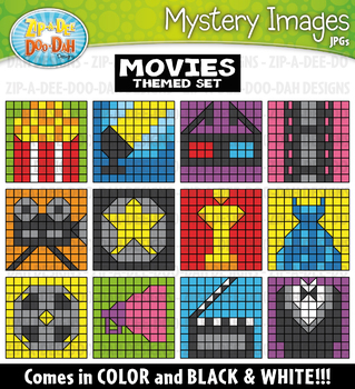 Hollywood Movies Mystery Images Clipart {Zip-A-Dee-Doo-Dah Designs}