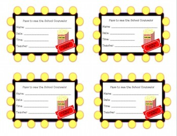 Hollywood Movies School Counselor Referral and Passes Pack