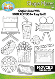 Hollywood Movies Shaped Mazes Clipart {Zip-A-Dee-Doo-Dah Designs}