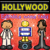 Hollywood Name Tags- Editable