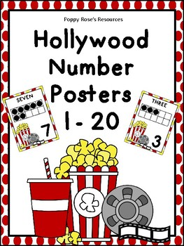 Hollywood Number Posters