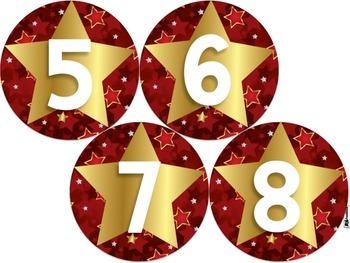 Hollywood Oscars 4 Inch Circle Labels 1-12 FREEBIE