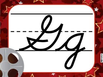 Hollywood Oscars CURSIVE Alphabet Letters Posters