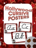 Hollywood Oscars CURSIVE Alphabet Letters Posters