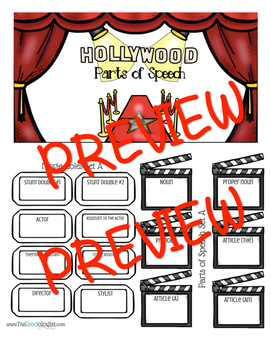 Hollywood Parts of Speech: A New Way to Think About Parts of Speech!