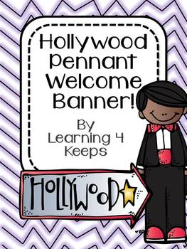 Back to School Hollywood Pennant Welcome Banner!