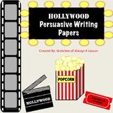 Favorite Book Persuasive Writing Paper- Hollywood Theme