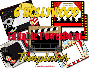 Hollywood PowerPoint Templates for Back to School or Class Activities