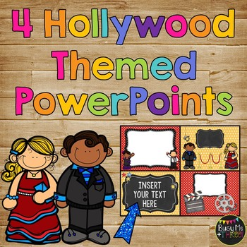 Hollywood Powerpoint Templates For Learning Celebration Or Party
