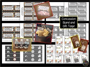 Hollywood Printables for Learning Celebration or End of Year Party