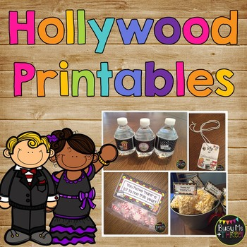 Hollywood Printables for Learning Celebration or End of Ye