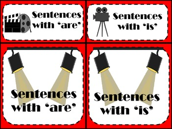 Hollywood- Sentences with 'is' and 'are' (freebie)