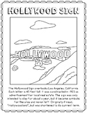 California History Coloring Pages Teaching Resources Teachers Pay Hollywood Sign Drawing Page